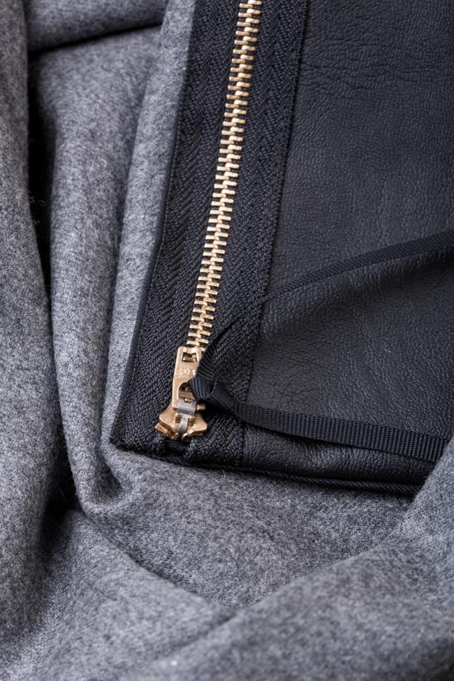 Wool-blend ruffled mini dress Lena Criveanu image 4
