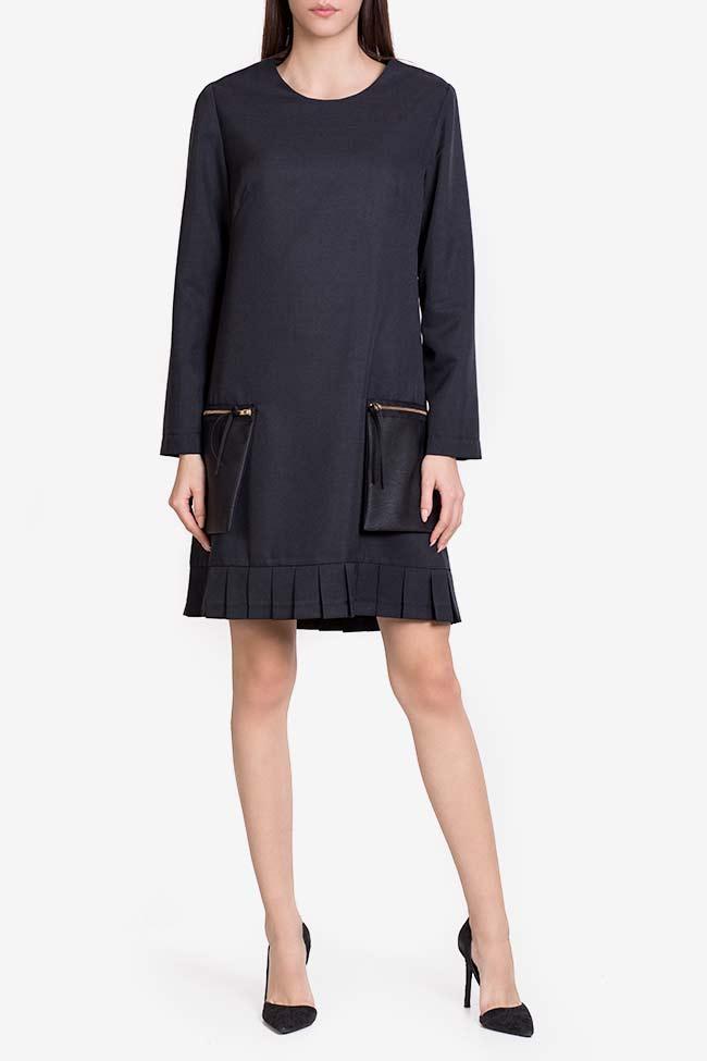Rochie din amestec de lana cu buzunare supradimensionate Lena Criveanu imagine 1