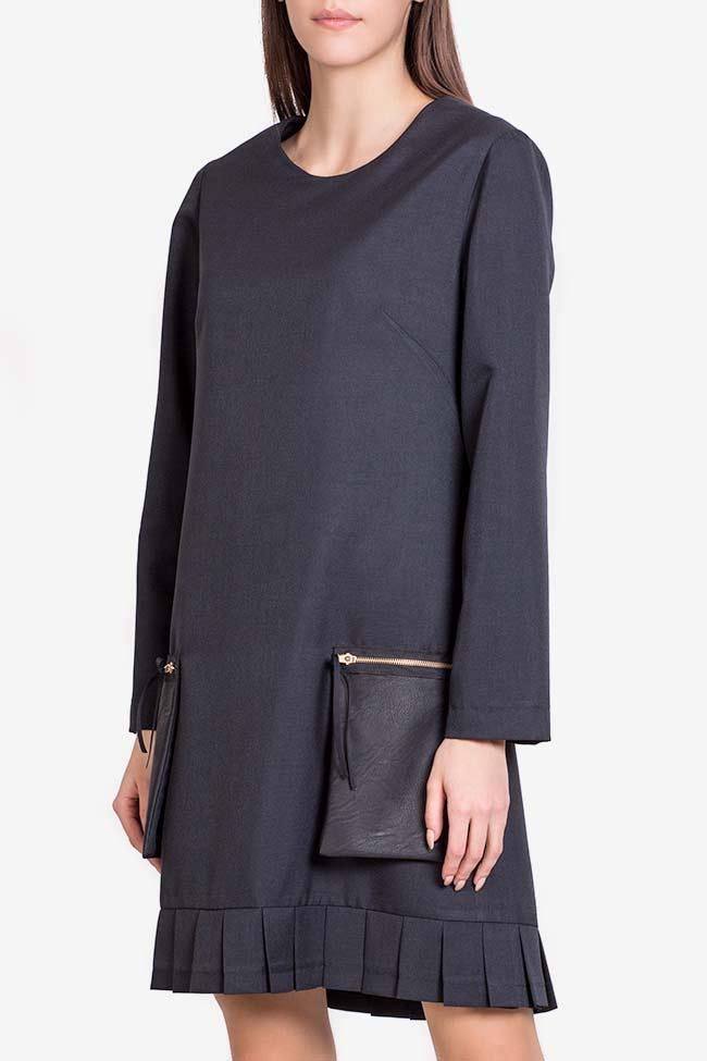 Rochie din amestec de lana cu buzunare supradimensionate Lena Criveanu imagine 0
