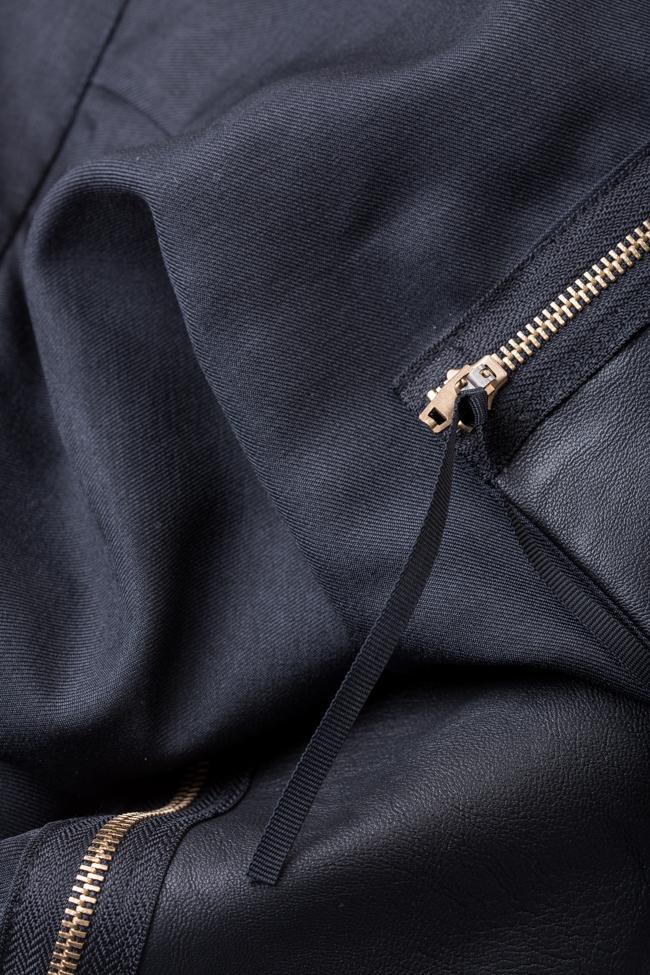 Rochie din amestec de lana cu buzunare supradimensionate Lena Criveanu imagine 4
