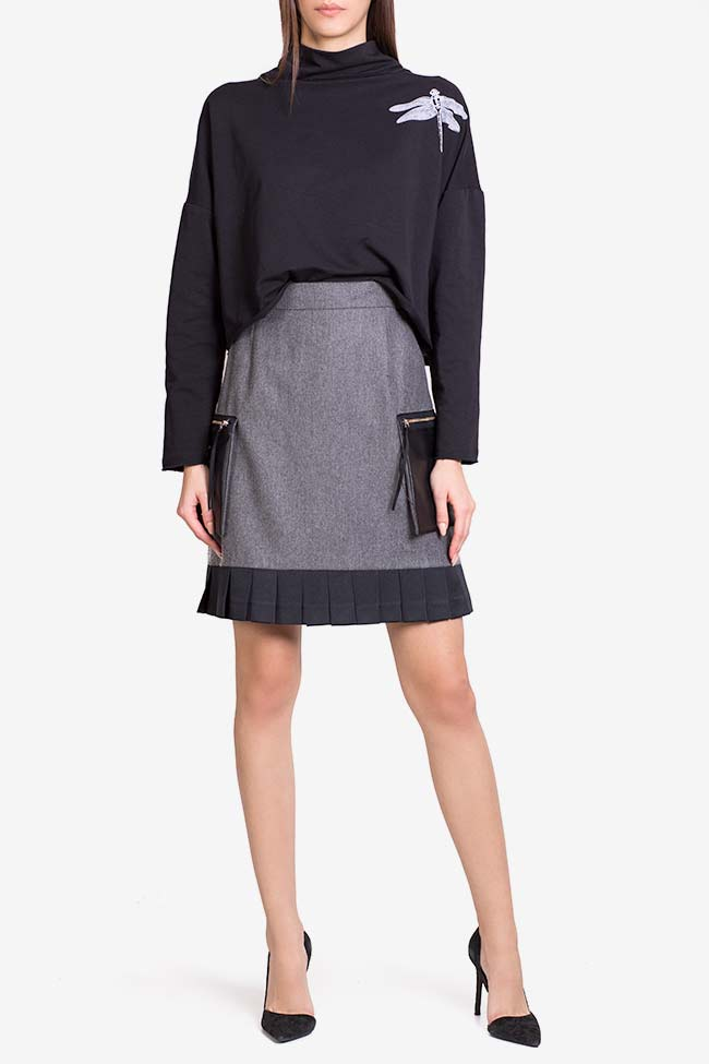Jupe en mélange de laine avec poches surdimensionnées Lena Criveanu image 1