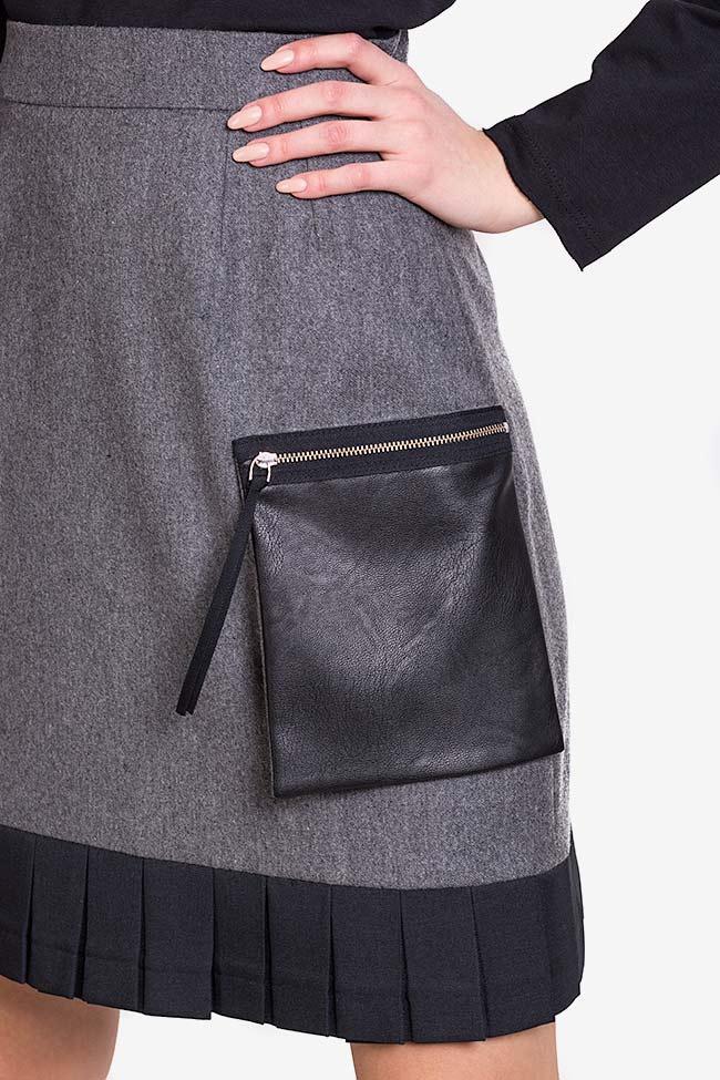 Jupe en mélange de laine avec poches surdimensionnées Lena Criveanu image 3