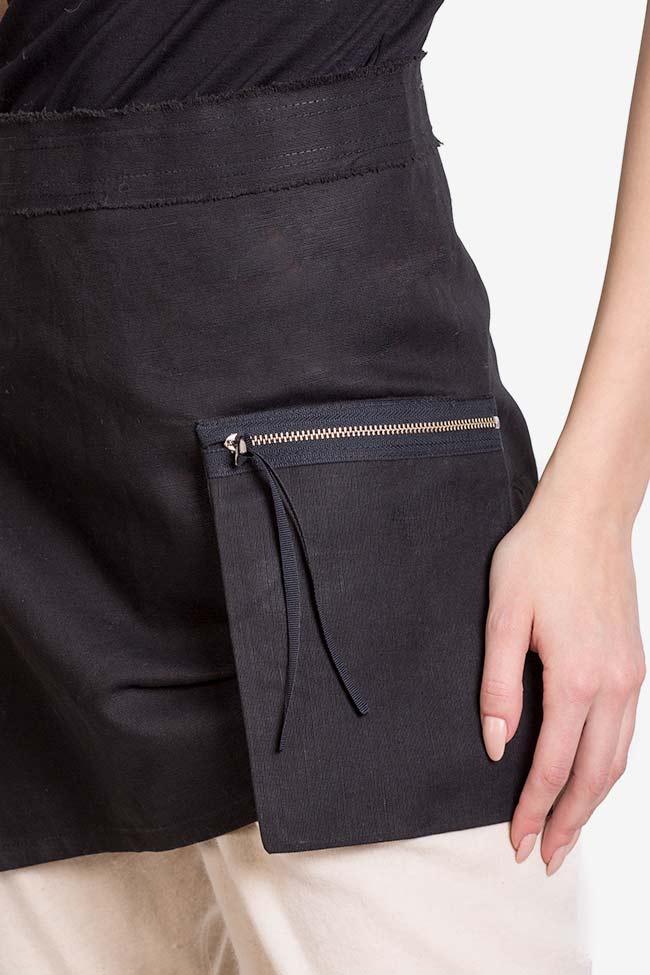 Asymmetric cotton apron  Lena Criveanu image 3