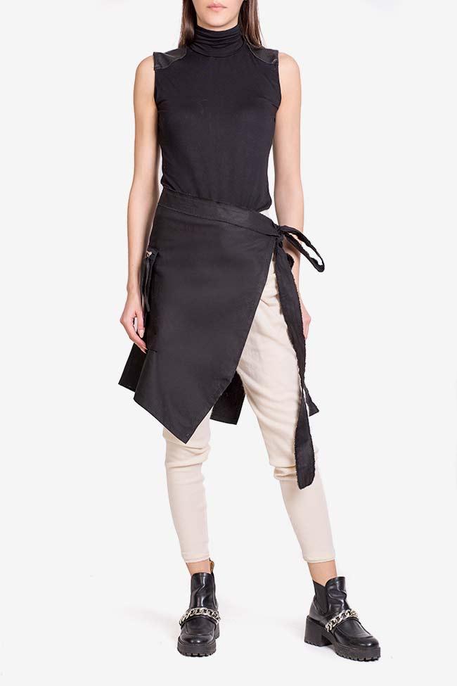 Asymmetric cotton apron  Lena Criveanu image 1