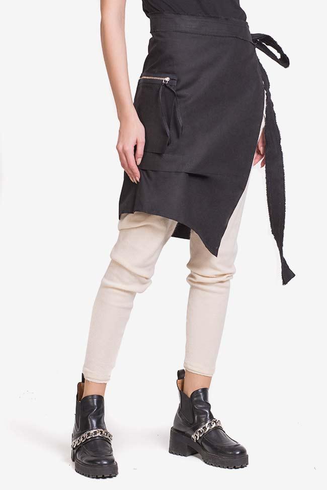 Asymmetric cotton apron  Lena Criveanu image 0