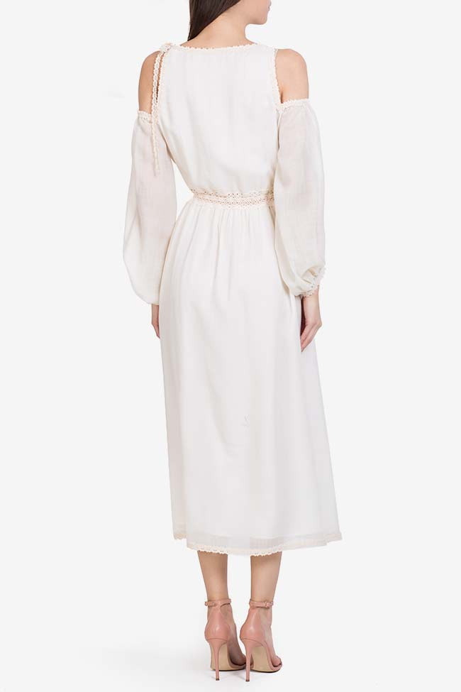 Robe en laine mérinos brodée à épaules dénudées Izabela Mandoiu image 2
