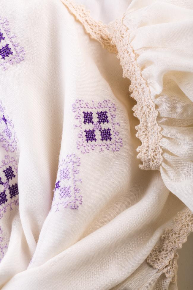 Robe en laine mérinos brodée à épaules dénudées Izabela Mandoiu image 4
