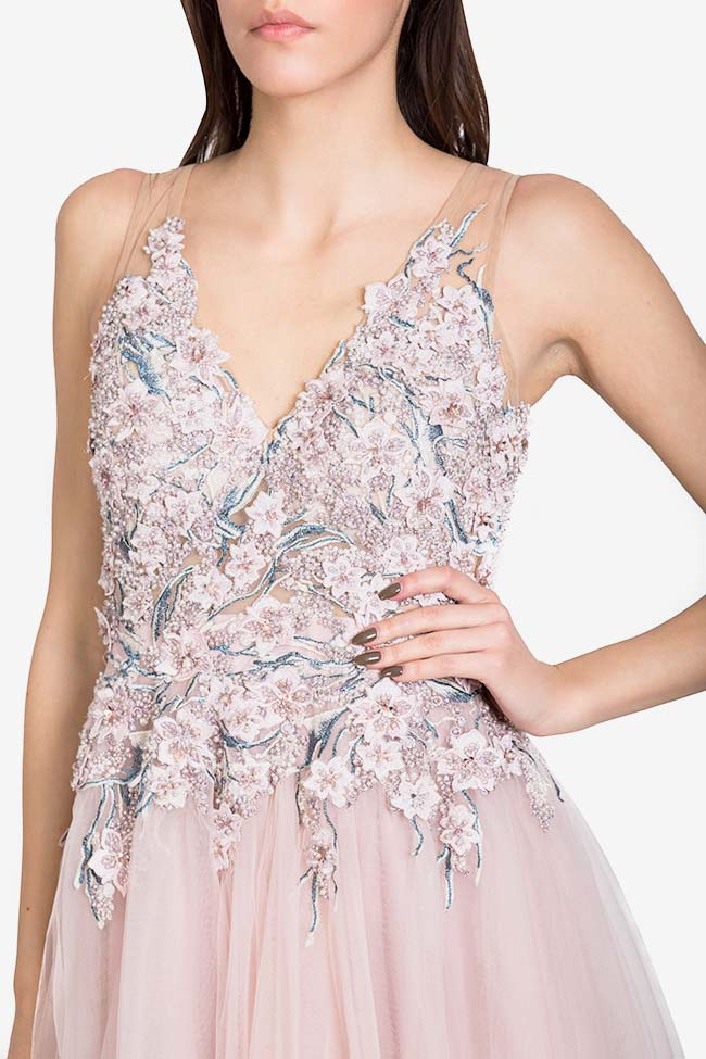Irene crystals embellished tulle and lace gown VIGO image 3