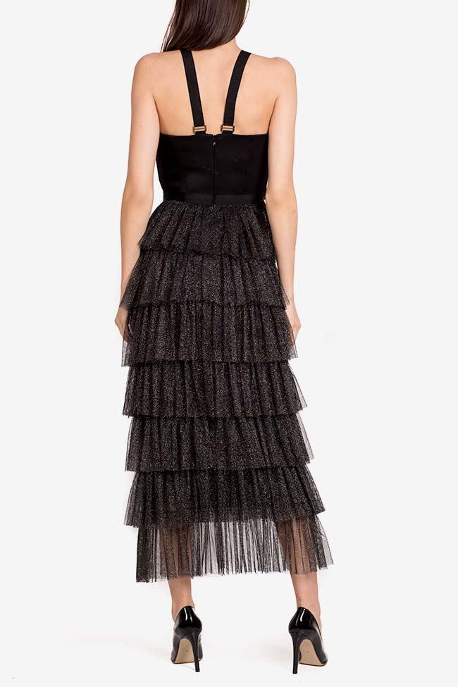 Graciela ruffled metallic tulle satin midi dress Ramona Belciu image 2