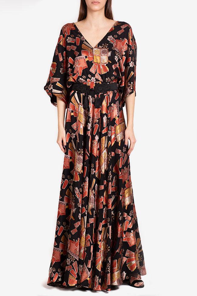 Calypso belted printed maxi dress Ramona Belciu image 1