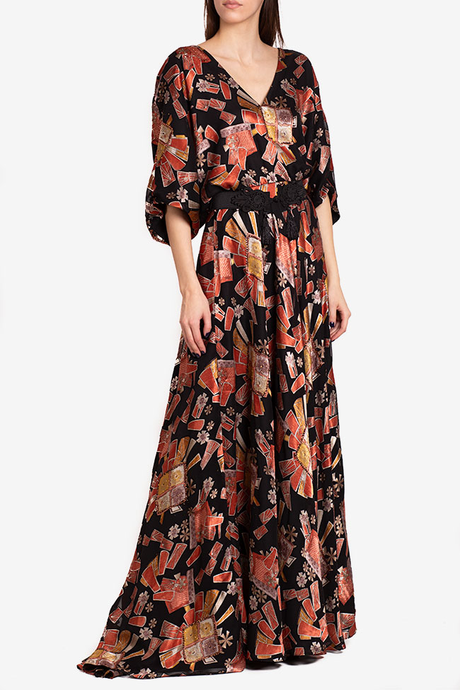 Calypso belted printed maxi dress Ramona Belciu image 0