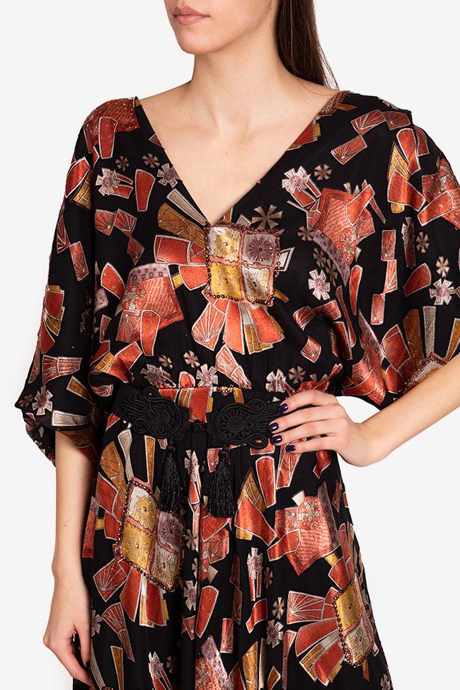 Calypso belted printed maxi dress Ramona Belciu image 3