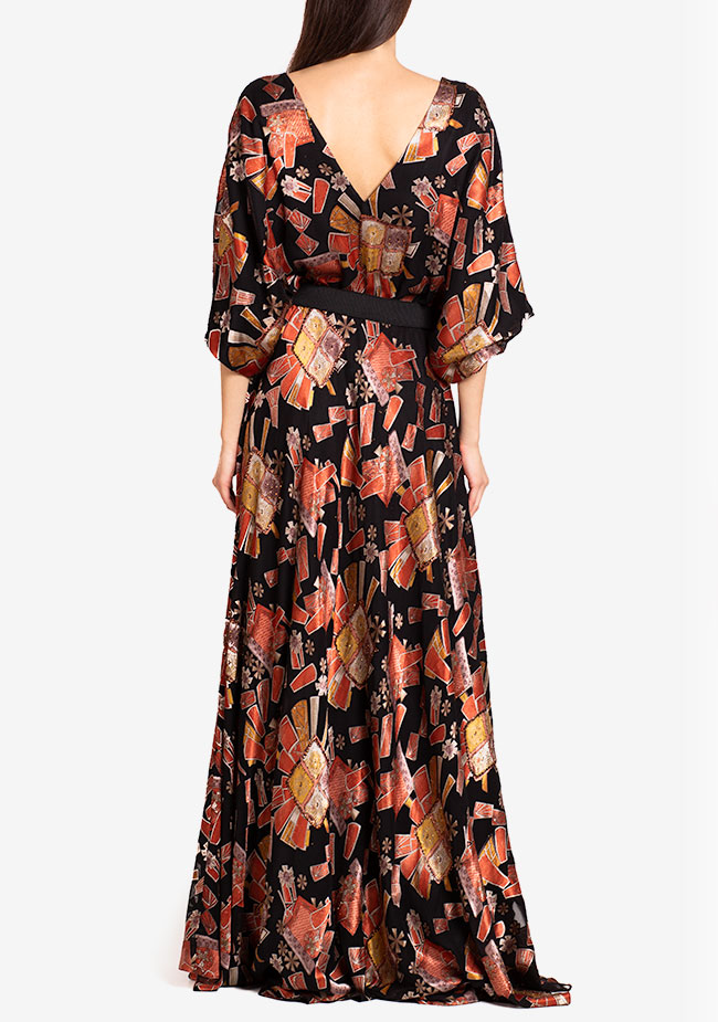 Calypso belted printed maxi dress Ramona Belciu image 2