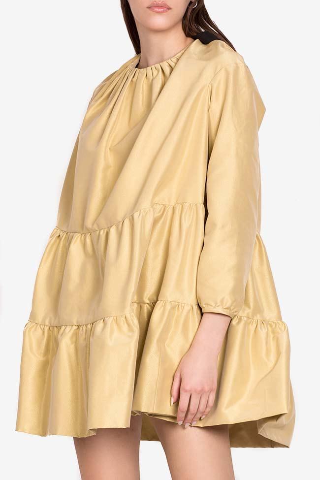 Golden Girl taffeta mini dress I Love Parlor image 0