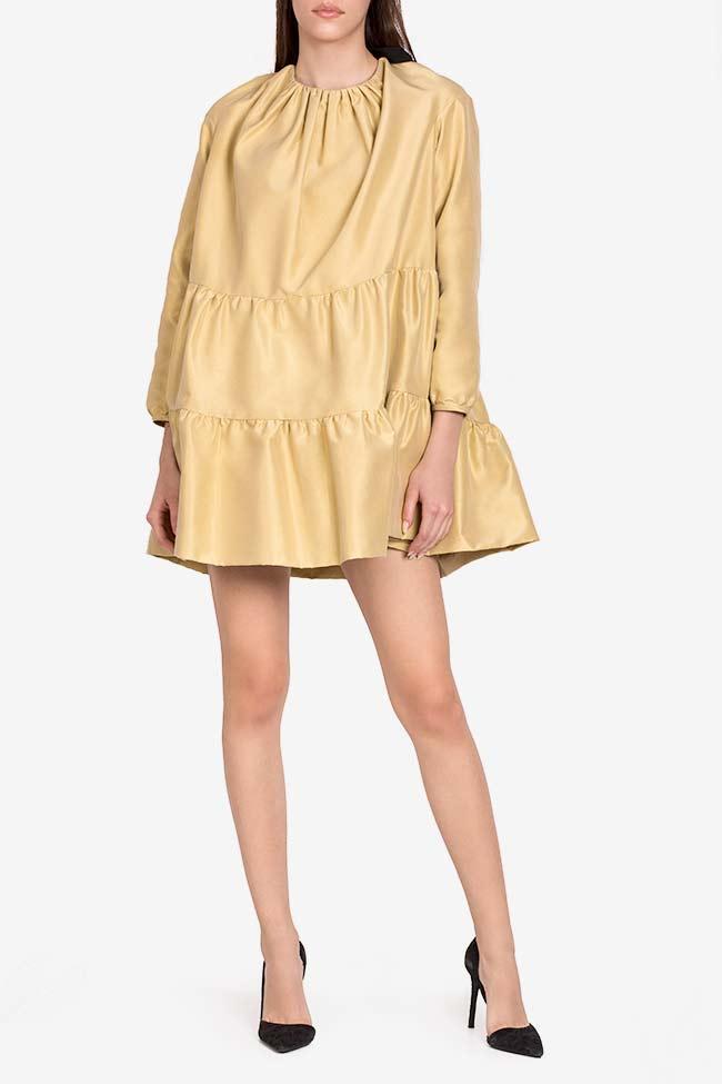 Golden Girl taffeta mini dress I Love Parlor image 1
