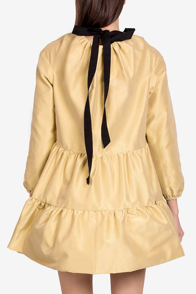 Robe mini en taffetas Golden Girl I Love Parlor image 2