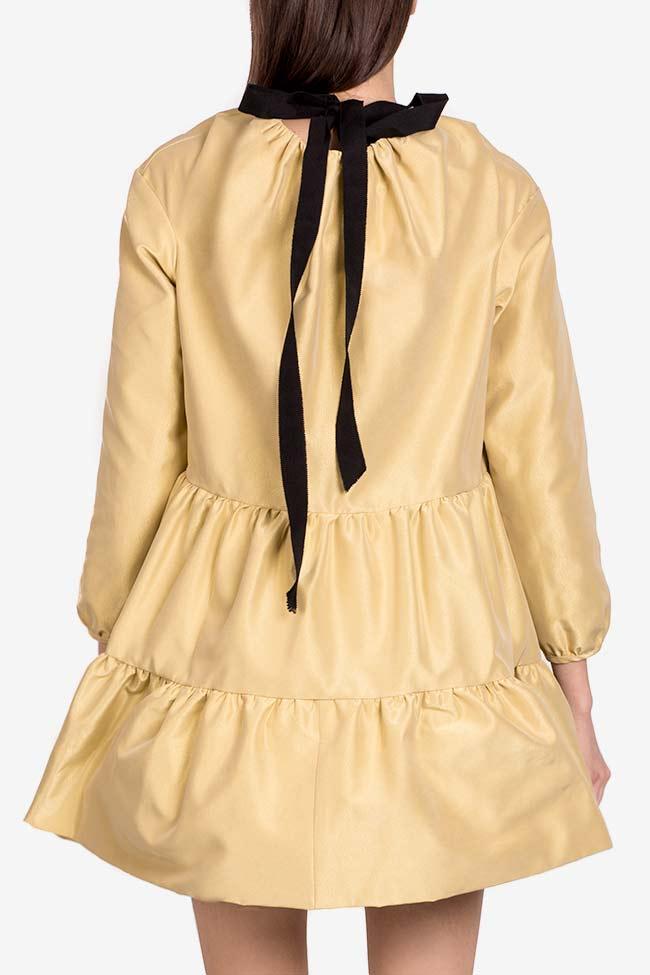 Golden Girl taffeta mini dress I Love Parlor image 2