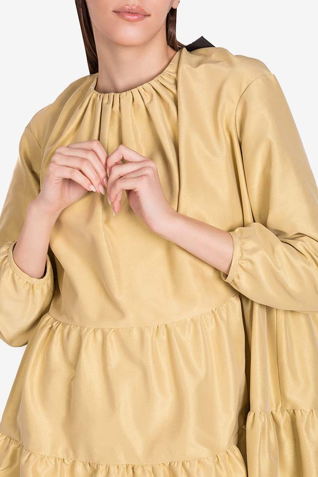 Rochie mini din tafta Golden Girl I Love Parlor imagine 3