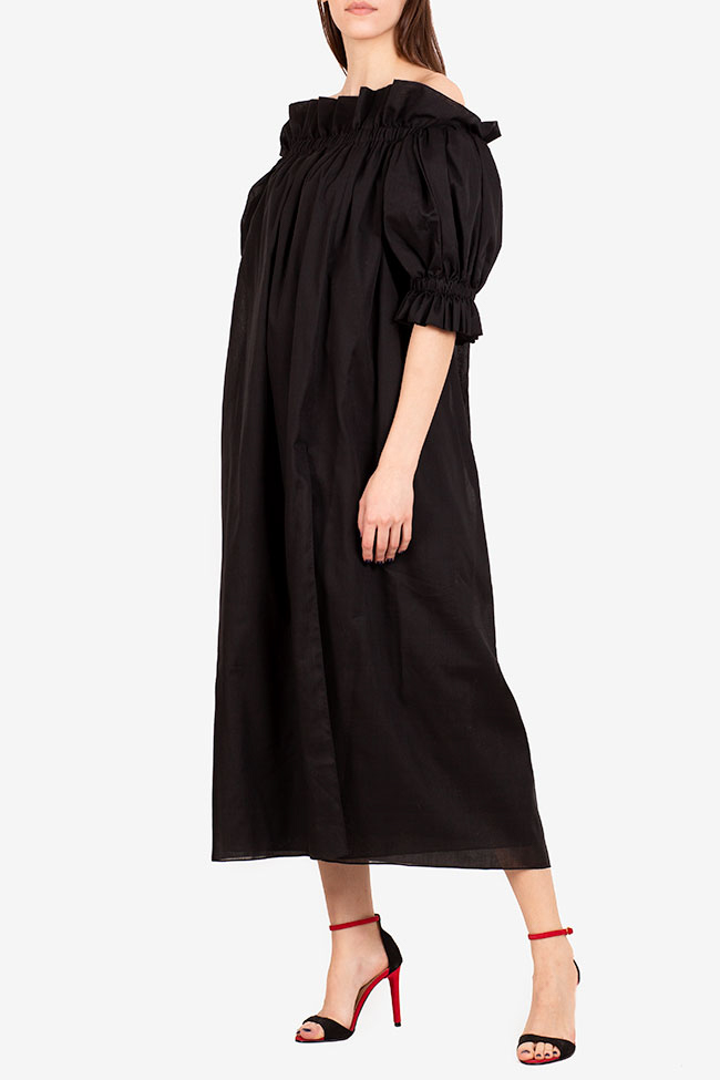 Annie off-the-shoulder ruffled linen midi dress I Love Parlor image 0