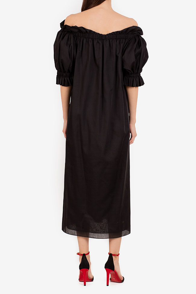 Annie off-the-shoulder ruffled linen midi dress I Love Parlor image 2
