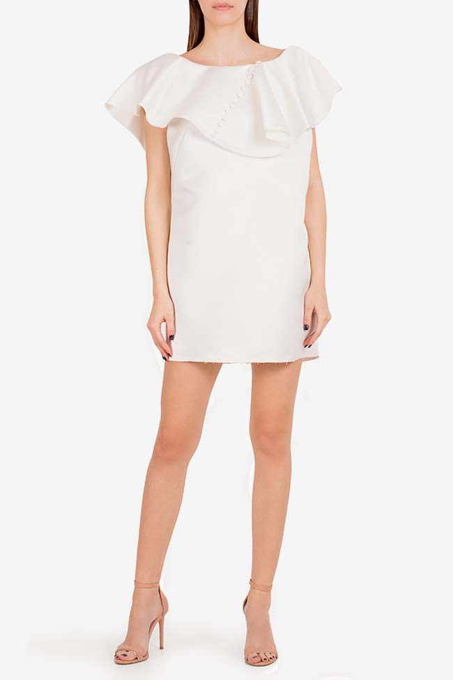 Vanilla tulle-paneled mini dress I Love Parlor image 1