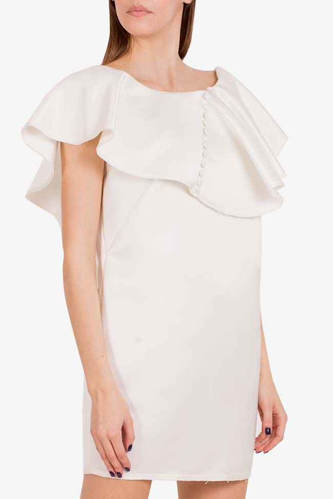 Vanilla tulle-paneled mini dress I Love Parlor image 0