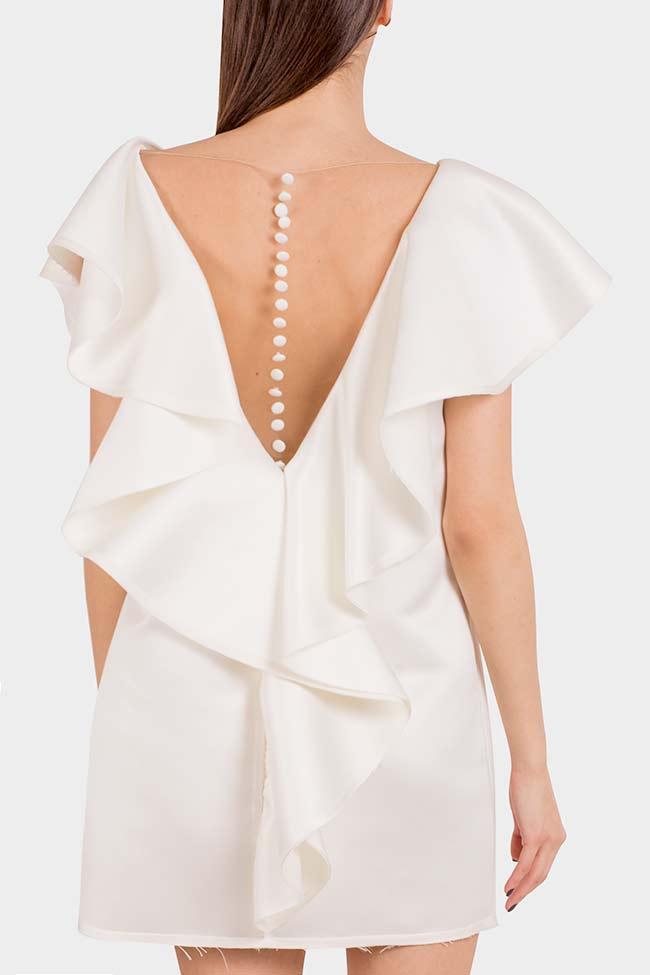 Vanilla tulle-paneled mini dress I Love Parlor image 2