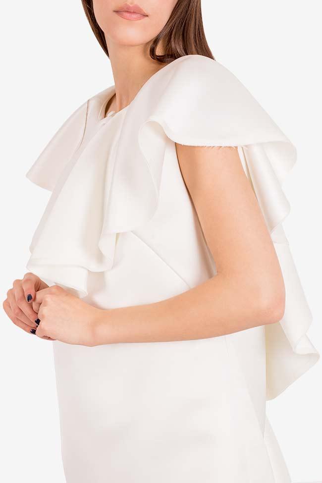 Vanilla tulle-paneled mini dress I Love Parlor image 3
