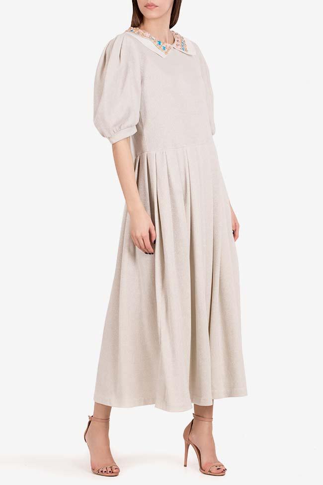Embroidered lamé midi dress I Love Parlor image 0