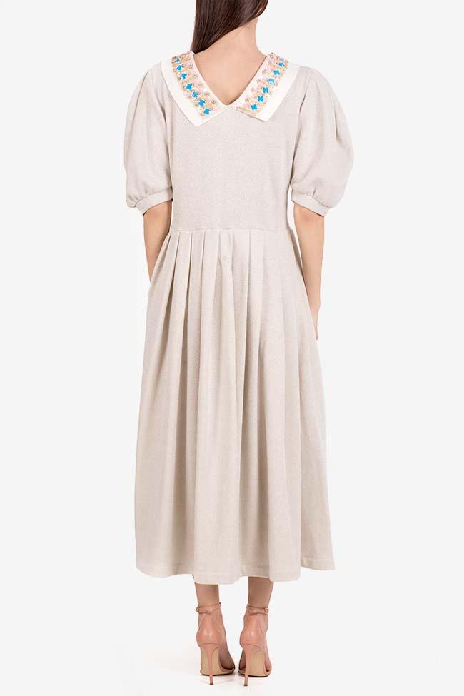Embroidered lamé midi dress I Love Parlor image 2