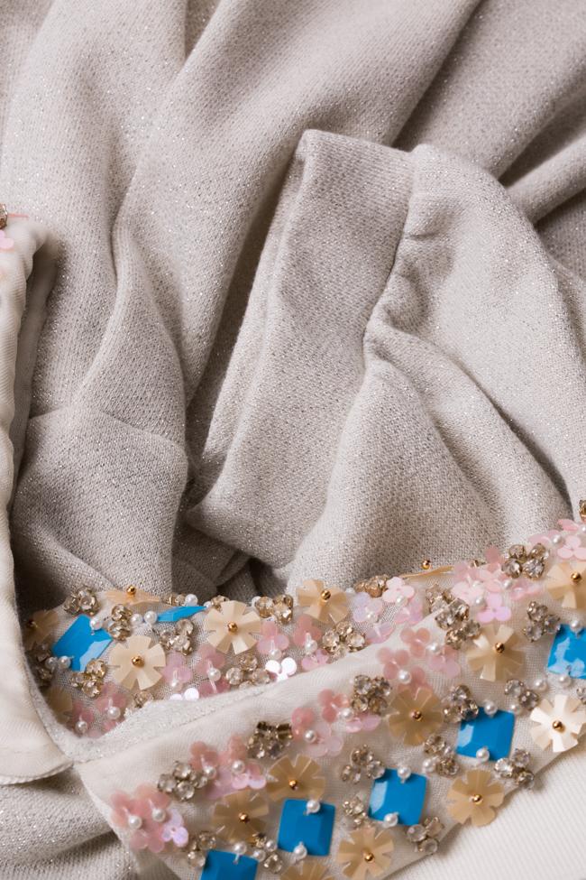 Embroidered lamé midi dress I Love Parlor image 4