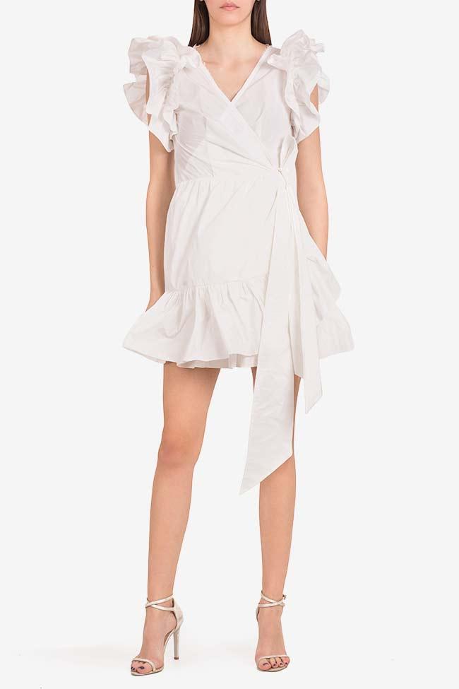 Ruffled mini taffeta wrap dress Marie I Love Parlor image 1
