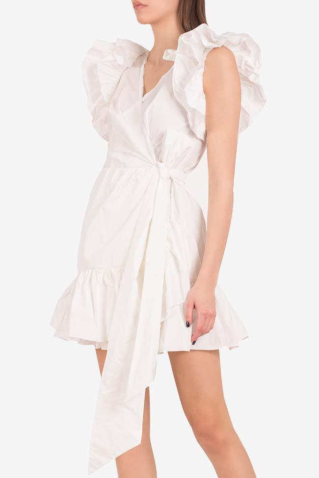 Ruffled mini taffeta wrap dress Marie I Love Parlor image 0
