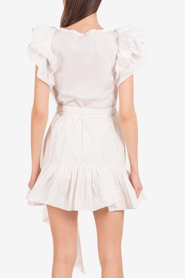 Ruffled mini taffeta wrap dress Marie I Love Parlor image 2