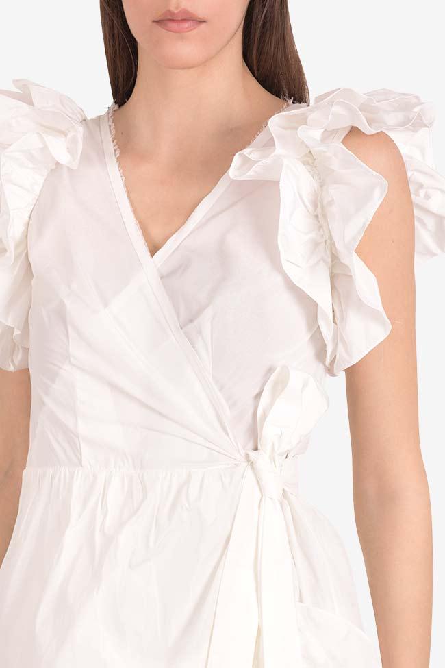 Ruffled mini taffeta wrap dress Marie I Love Parlor image 3