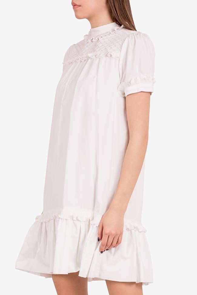 Cupcake cotton poplin ruffled mini dress I Love Parlor image 0