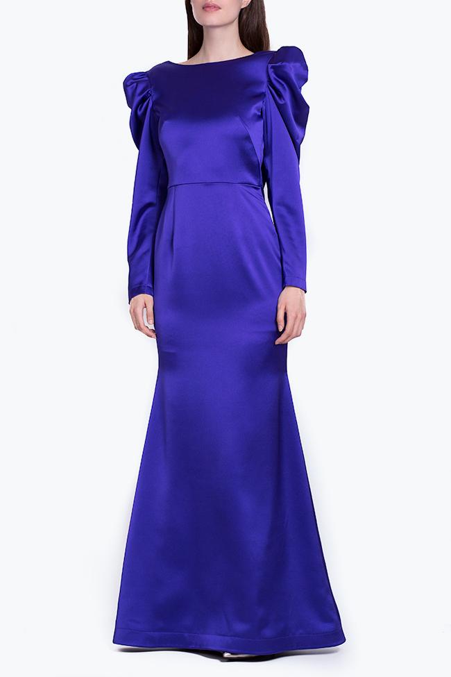 Tiffany tafetta imperial purple maxi dress Ramona Belciu image 1