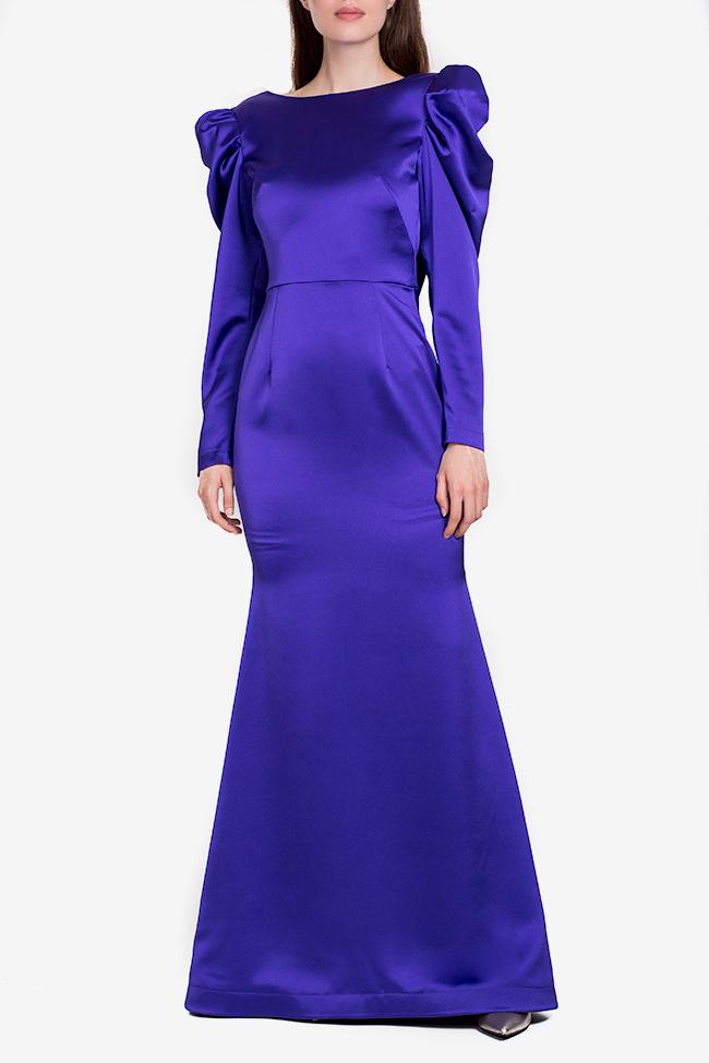 Tiffany tafetta imperial purple maxi dress Ramona Belciu image 0