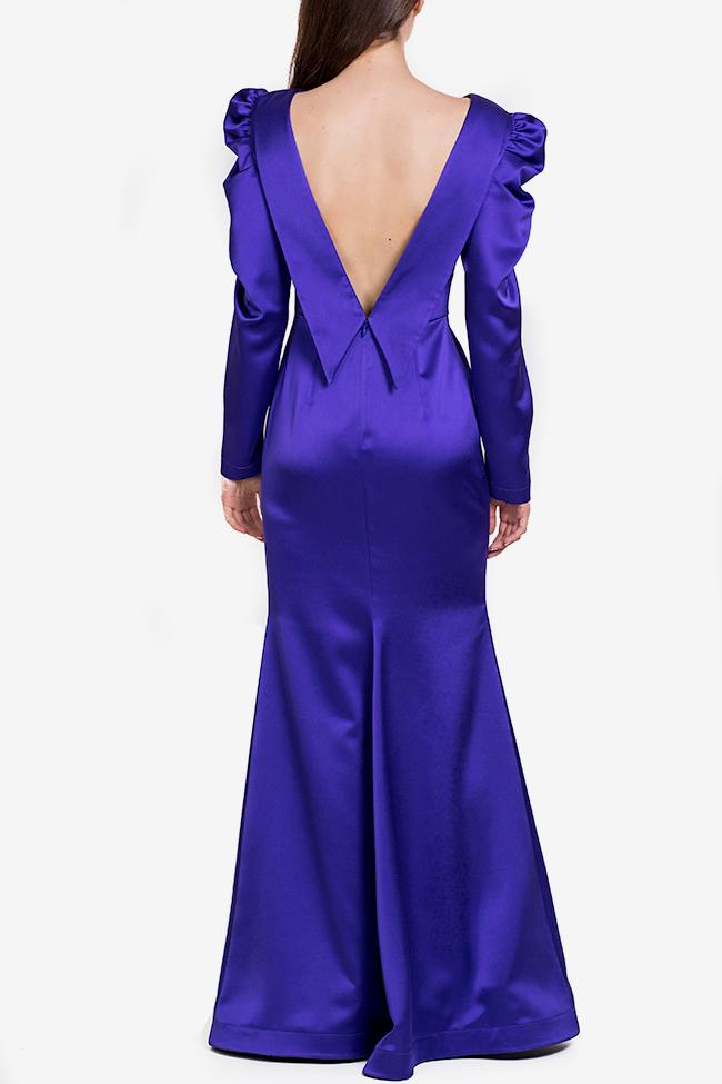 Tiffany tafetta imperial purple maxi dress Ramona Belciu image 2