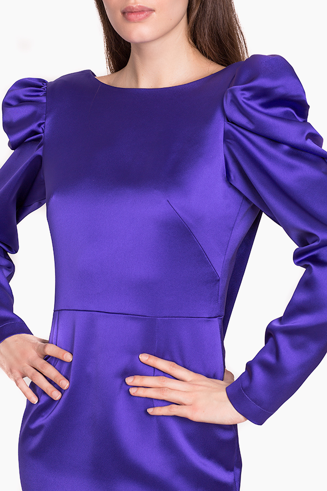 Robe mauve impérial en taffetas Tiffany Ramona Belciu image 3