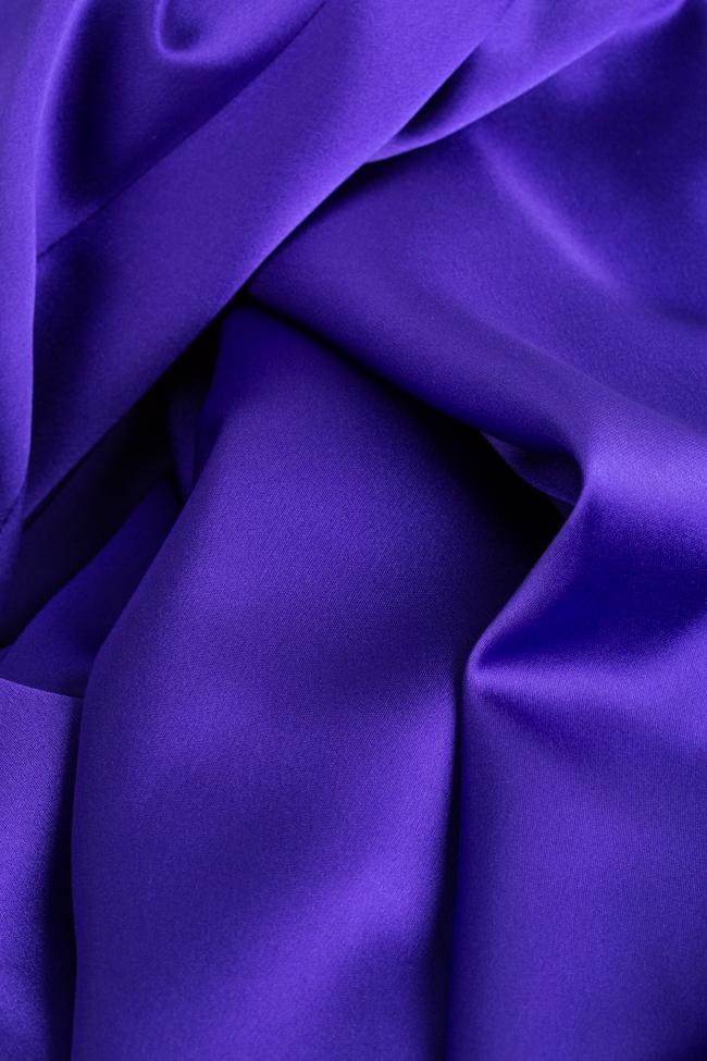 Tiffany tafetta imperial purple maxi dress Ramona Belciu image 4
