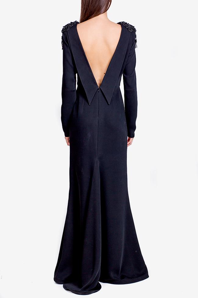 Taffeta black maxi dress Theresa Ramona Belciu image 2
