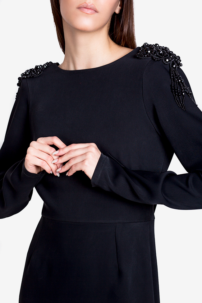 Taffeta black maxi dress Theresa Ramona Belciu image 3