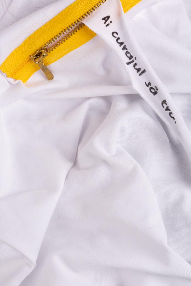 Tricou din bumbac organic Larisa Dragna imagine 4