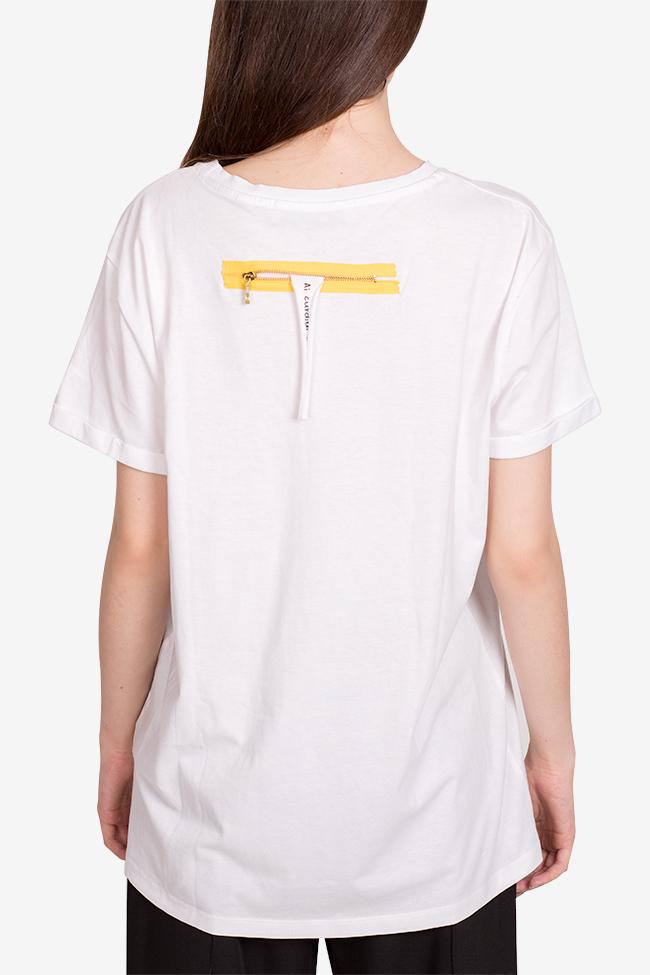 Tricou din bumbac organic Larisa Dragna imagine 2