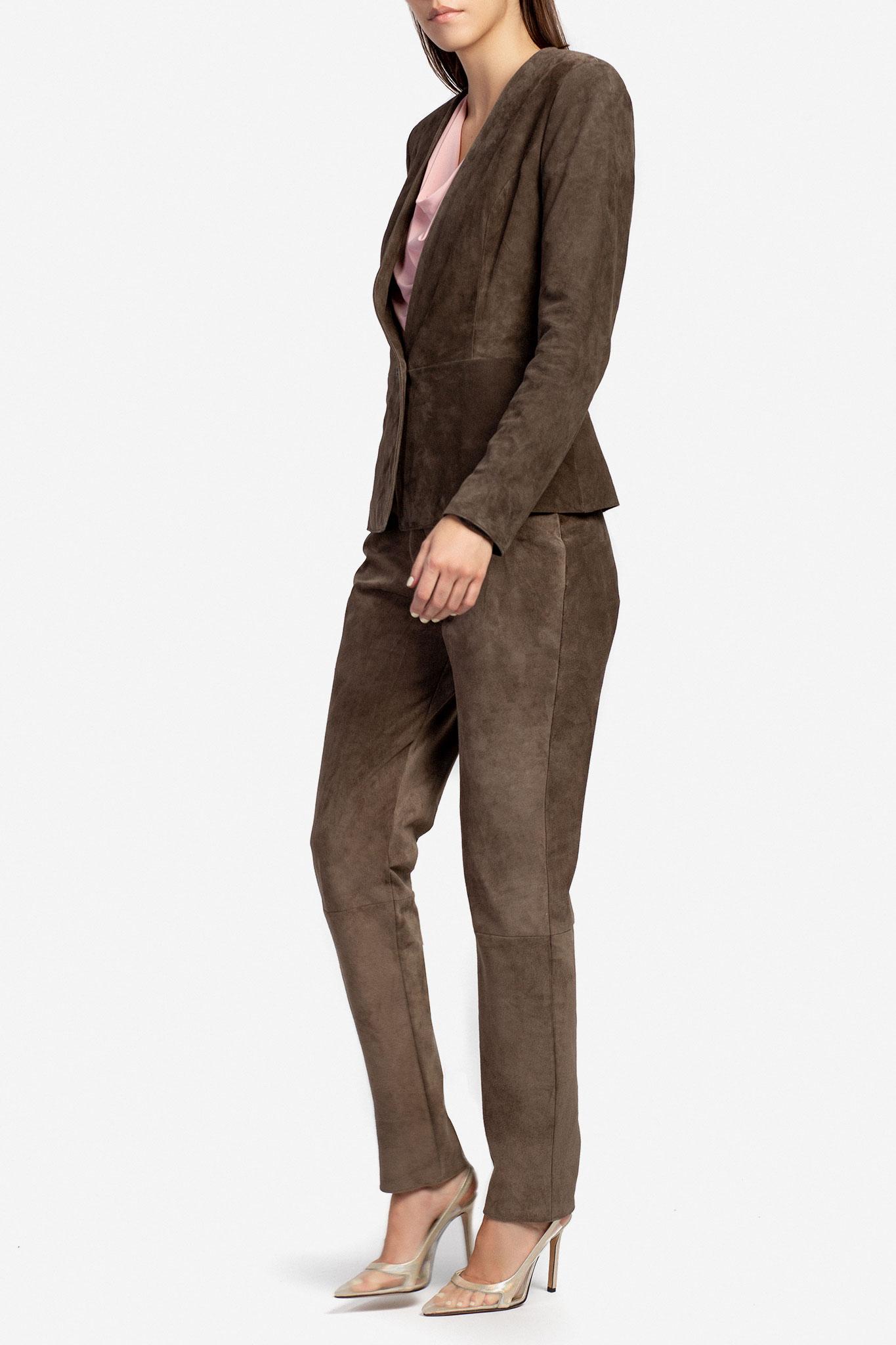 Pantaloni din piele intoarsa Acob a Porter imagine 0