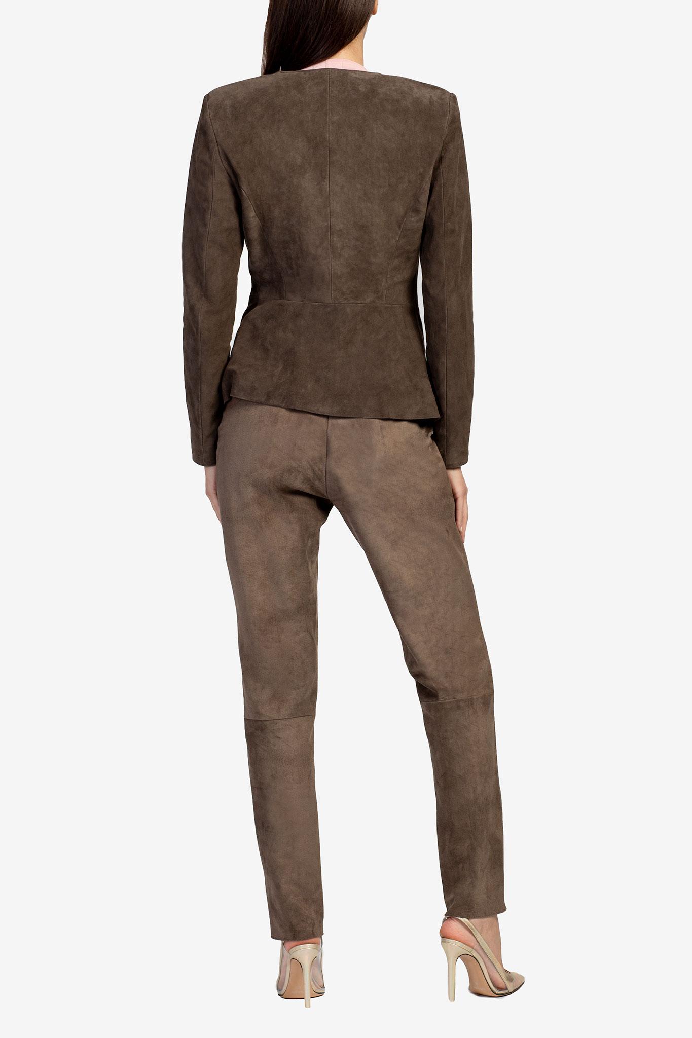 Pantaloni din piele intoarsa Acob a Porter imagine 1