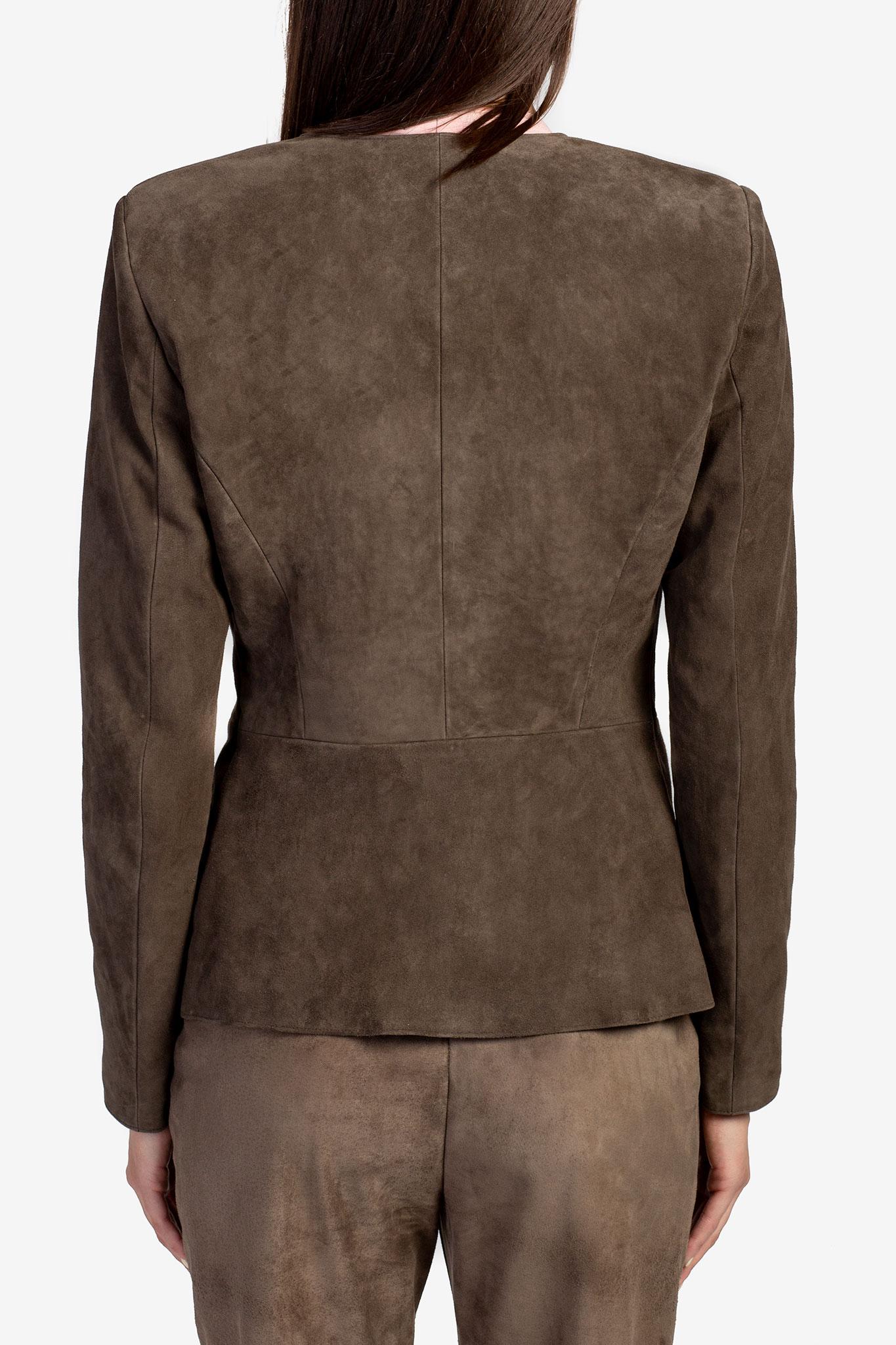 Pantaloni din piele intoarsa Acob a Porter imagine 2