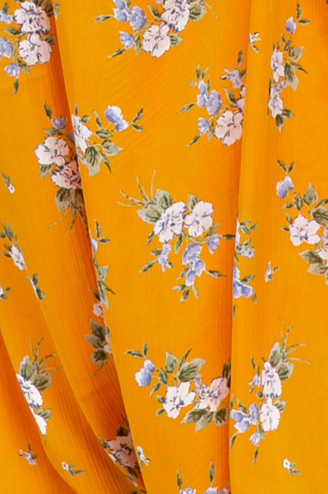 Salopeta cu imprimeu floral din matase Esa  imagine 4