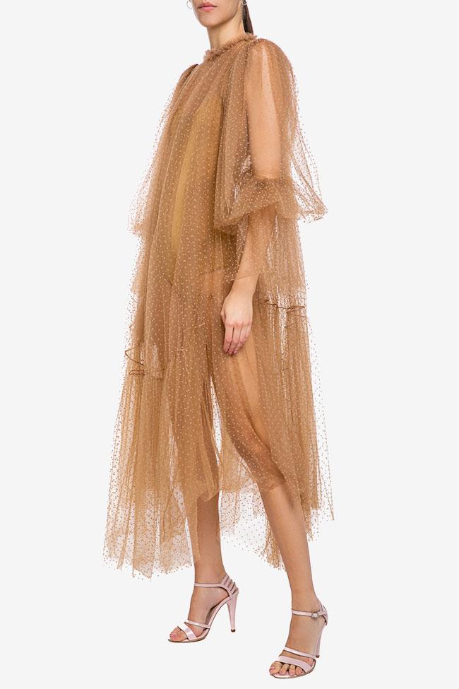 Rochie midi din tul cu buline
